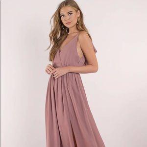Tobi Mauve Maxi Bridesmaids Dress